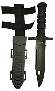"""12.5"""" TACTICAL SURVIVAL Rambo Hunting FIXED BLADE For Practical Use iCareYou Durable Knife Army Bowie w SHEATH"""